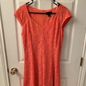 Coral Liz Claiborne Lace Dress size 12